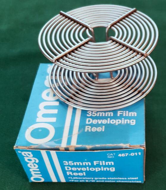 Vtg OMEGA 35mm Film Developing Reel Stainless Steel Wire Roll NOS