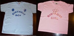 Image Is Loading Kids Personalised Birthday Boy Girl T Shirt