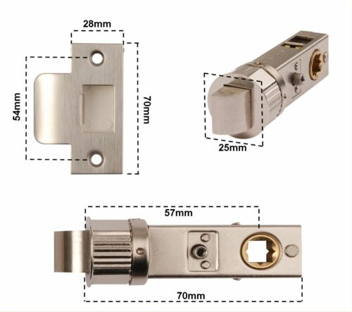 EASY FIT EXCEL FAST LATCH TUBULAR MORTICE LATCH SMART TUBULAR DOOR LATCH