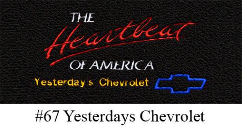 4pc 1955-1956 Chevy Bel Air Floor Mats Daytona
