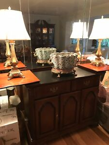 Image Is Loading Dining Room Buffet Cherry Wood Sideboard Server Made