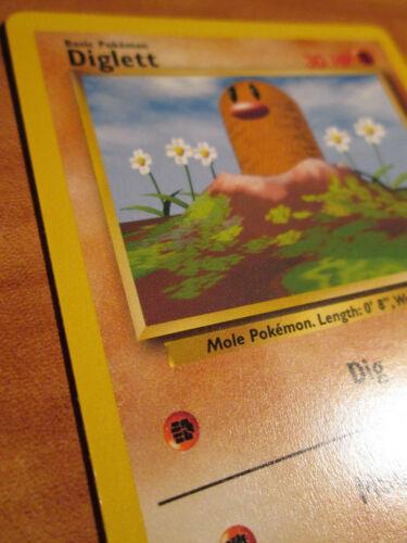 ERROR//MISPRINT Card BASE Set 47//102 Sideway Fighting Symbol NM Pokemon DIGLETT