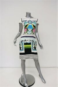 Mary-Katrantzou-Dress-Rodrizo-Bird-Print-Silk-Size-UK-10-Cap-Sleeve-Sheath