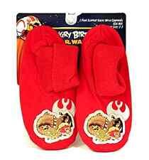 Angry Birds Star Wars Slipper Socks Red Luke Chewbaca Yoda Grippers Sz M/L 2-3