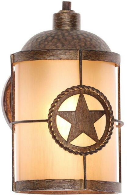 Hampton Bay Outdoor Lanterns Lone Star Wall Mount 1 Light
