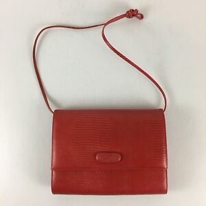 Image Is Loading J M Jennifer Moore Red Genuine Leather Handbag Purse