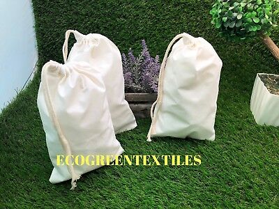 4x6 inches Double Drawstring Cotton Muslin Bags *Nice QUALITY* Choose Quantities
