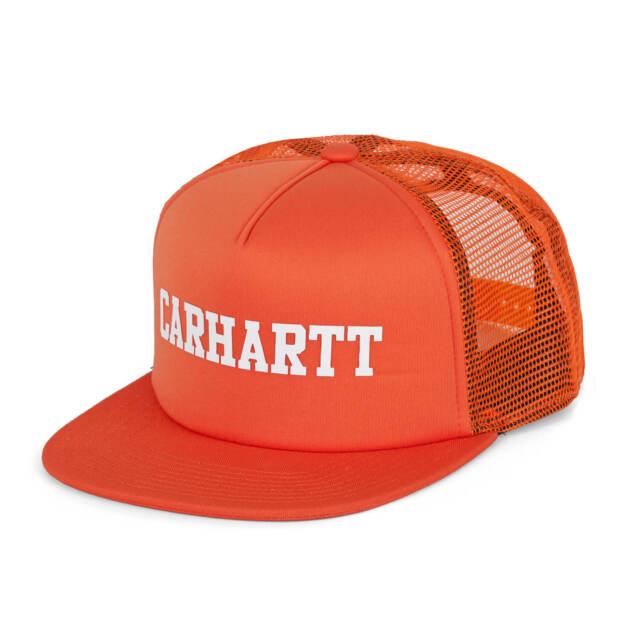 a804afa912a9f Carhartt WIP College Trucker Cap Persimmon Orange Mesh Cap for sale ...