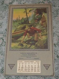 1927-Calendar-amp-Print-Philip-R-Goodwin-034-Where-A-Man-039-s-A-Man-034-Elmwood-Wisconsin
