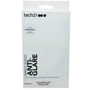 Tech21-Impact-Shield-Anti-Glare-BulletShield-Screen-Protector-For-iPhone-X-Xs