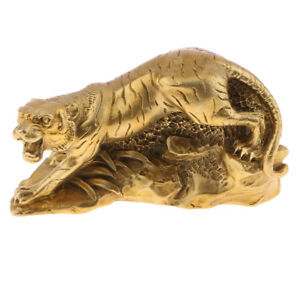 Retro Chinese Feng Shui Statue Ornaments Shengxiao Zodiac Tiger Lucky Charm