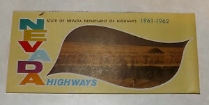 Vintage 1961-62 NEVADA Highways Map & Illustrated Travel Guide by Nevada HWY Dep