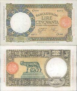 REGNO-D-039-ITALIA-STUPENDO-50-LIRE-LUPA-CAPITOLINA-DEC-29-APRILE-1940