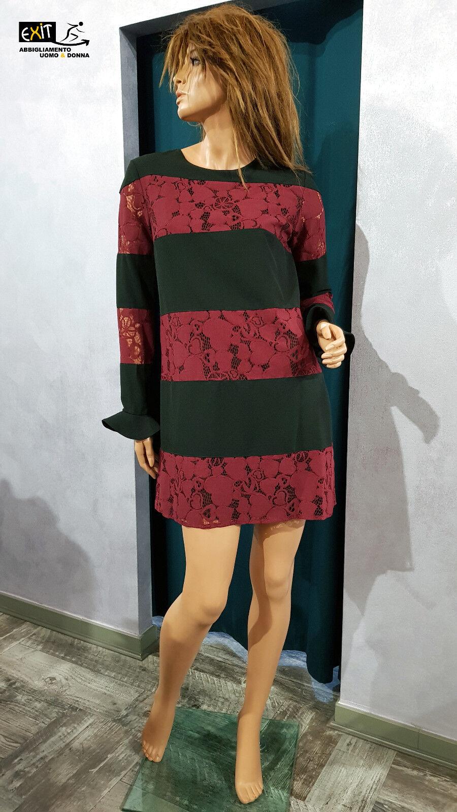 Denny pink abito con pizzo art. 821DD10023 collezione autunno-inverno 2018