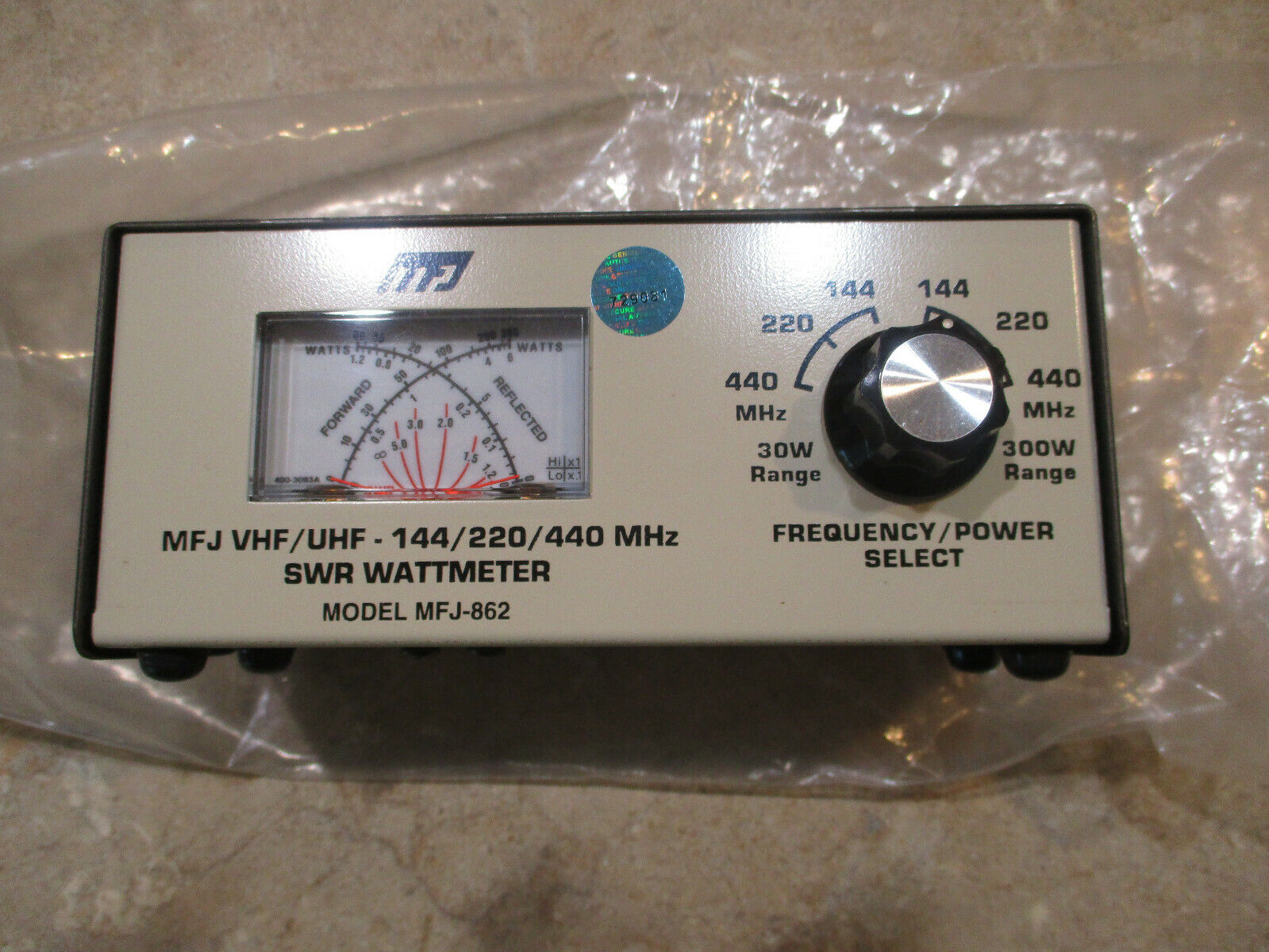 MFJ-862 VHF/UHF 144/220/440 MHz SWR Wattmeter . Available Now for 99.95