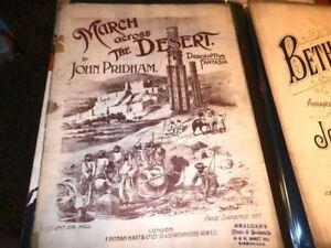 #8952, Mars à Travers Désert, Pridham,, Rarement Vu, Sheet Music Circa Années 1880-,,seldom Seen,sheet Music Circa 1880's Fr-fr Afficher Le Titre D'origine