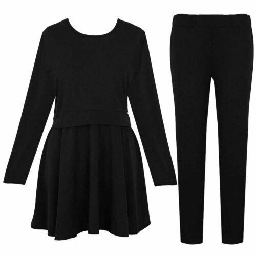 Ladies Skater Dress with Legging Casual Loungewear 2 Peice Tracksuit set UK 8-26