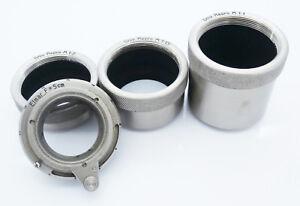 Vintage-Leitz-Brass-Macro-Extension-Tubes-for-Leica-Elmar-5cm-LTM-Free-UK-P-amp-P
