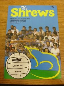 08101983 Shrewsbury Town v Oldham Athletic   Item appears to be in good condi - Birmingham, United Kingdom - 08101983 Shrewsbury Town v Oldham Athletic   Item appears to be in good condi - Birmingham, United Kingdom