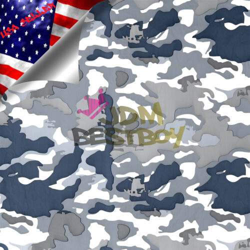 "19/""x38/"" Hydrographic Film Hydro Dipping Water Transfer Snow Camo Camouflage #8"