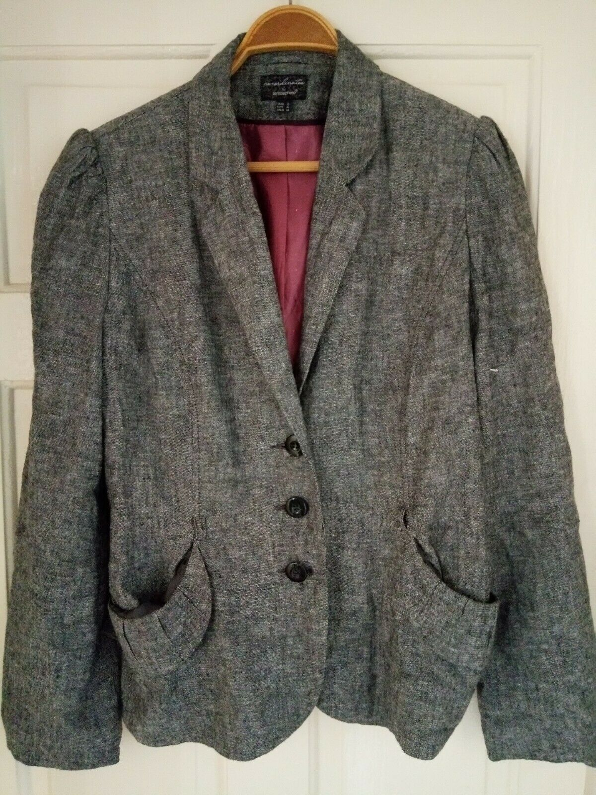Ladies Size 18 linen mix Grey Marl Jacket from Collections by Atmosphere