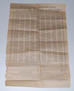 1889-Official-Drawing-LOUISIANA-STATE-LOTTERY-Winners-List-CONFEDERATE-GENERAL