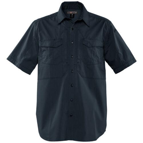 5.11 Tactical Stryke Mens Summer Shirt Cadet Army Uniform Short Sleeve Dark Navy