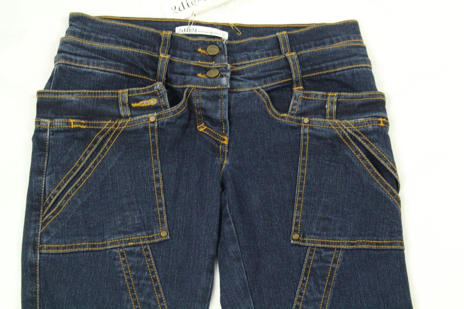 2die4 Antonio Berardi Donna Jeans Cargo Misura 42 42 42 (Us 8) Retail Italia 0c7218