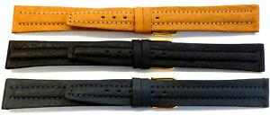 3x-16mm-FLEURUS-CENTRE-PAD-CALF-LEATHER-WATCH-BANDS-STRAPS-TOP-VALUE