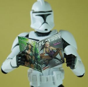 1//18 Scale Custom Playboy-style Star Wars magazine with several interior pages
