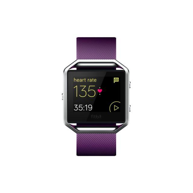 Fitbit Blaze Smart Fitness Watch Large Plum Versatile Get Motivated PurePulse TM