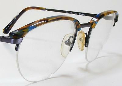 Stunning Combo Eyeglass Frame 53 Vintage SIZZLERS NOS Semi-Rimless Topaz Italy