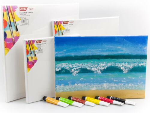 Mini Artist Blank Painting Board Canvas Art Stretched Primed Framed Square Small