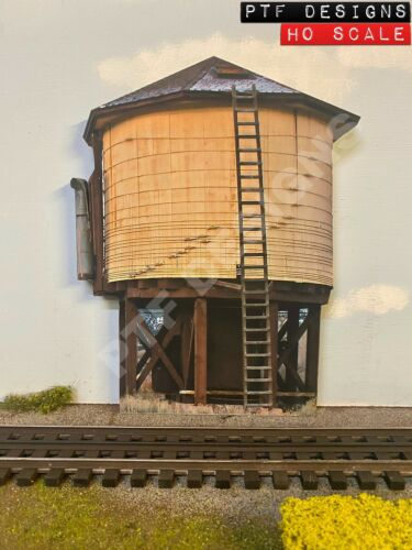 """Walthers HO Scale """" WATER TOWER """" Trackside Building Flat Background"""
