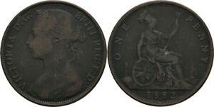 1 Penny 1882 H England Victoria, 1837-1901 #CXH33
