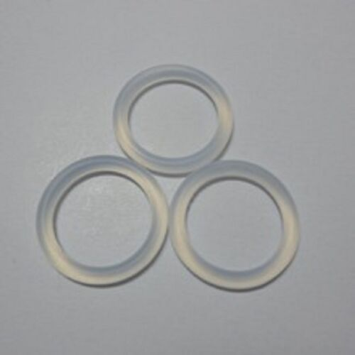 3 pcs Clear Silicone Mam Ring Dummy Clips Adapter Pacifier Holder Clip O Ring