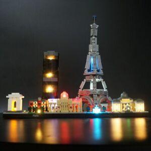 Details About Led Light Up Kit For Lego 21044 Architecture Paris Building Block Lighting