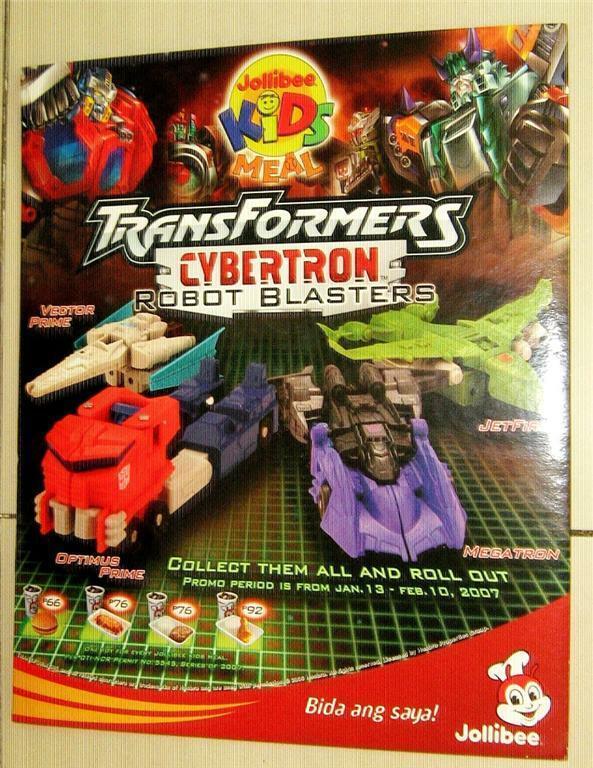 Conjunto de 4 Transformers Cybertron Filipinas Jollibee juguete figura de robot serie 1