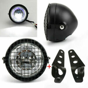 6-5-034-retro-moto-LED-phare-clignotant-support-Cafe-Racer-couvercle-lateral-gril
