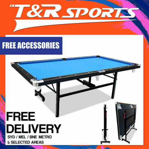 2019 New Model 8FT Blue Foldable / Fold Away Pool Billiard Table Free Accessory