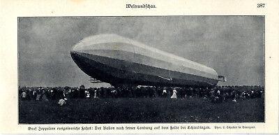 Novel Designs Charitable Graf Zeppelins Ereignisreiche Fahrt Landung Bei Echterdingen Von 1908 Famous For Selected Materials Delightful Colors And Exquisite Workmanship