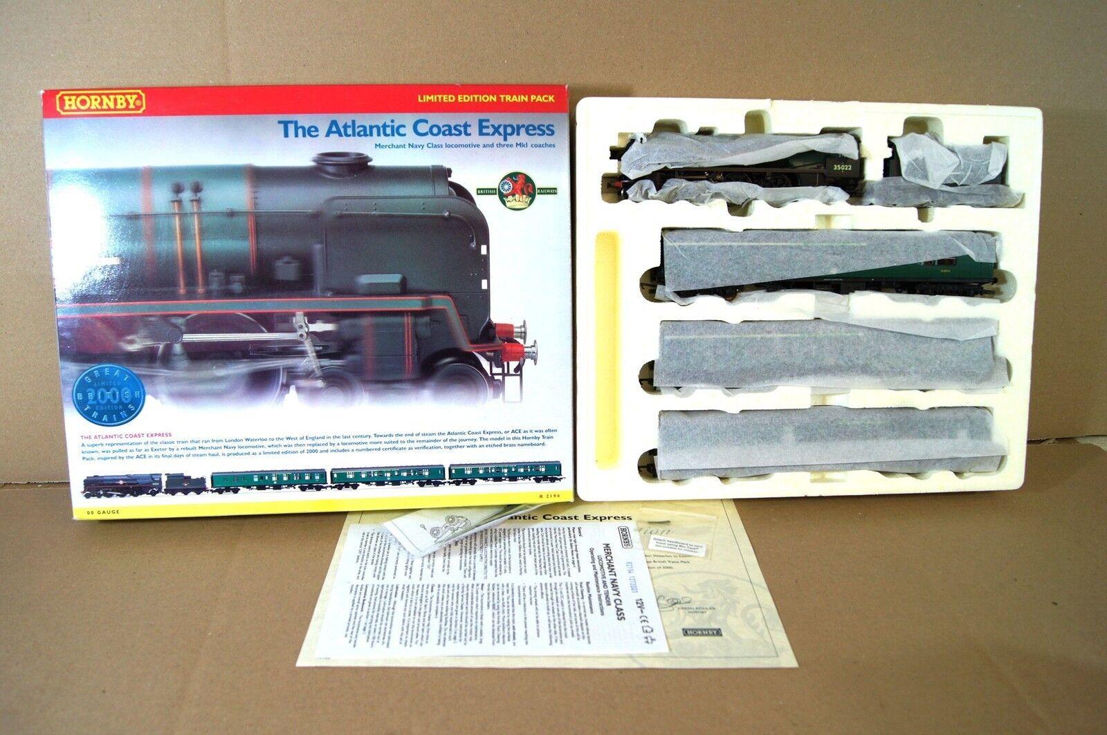 HORNBY R2194 ATLANTIC COAST EXPRESS TRAIN PACK SET BR HOLLAND AMERICA LINE MIB n