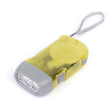 2pc LED Hand-Powered WIND Up Flashlight Go Green $25 NEW ELHPLT12