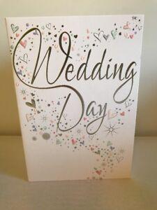 Wedding Day Card Marriage Congratulations Cards Ebay