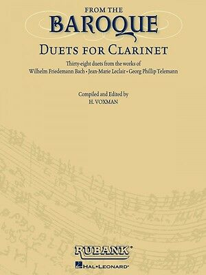 Instruction Books, Cds & Video Delicious From The Baroque Duets For Clarinet Ensemble Collection Book New 004470005 Musical Instruments & Gear