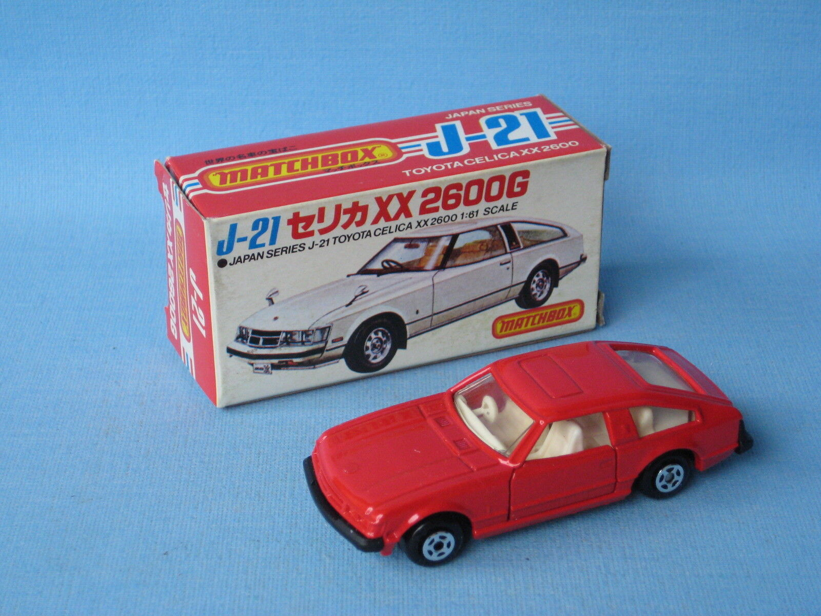 Lesney Matchbox Toyota Celica Red Japanese J-21 Picture Box Rare