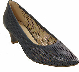 online store e9e06 28a41 Details zu CAPRICE Schuhe Pumps blau metallic echt Leder - laufen auf Luft  - NEU