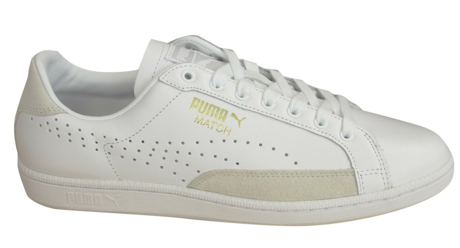 da3ea9fae7dd PUMA Mens Match 74 Trainers Tennis Sports Shoes SNEAKERS White Gold ...