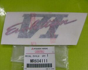 MITSUBISHI-LANCER-EVO-6-CP9A-BOOT-DECAL-EVOLUTION-VI-MR604111-RED-BLACK-GREY-JDM