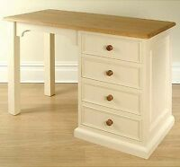 Hampton Cream Painted Pine Furniture Small Pc Office Computer Desk